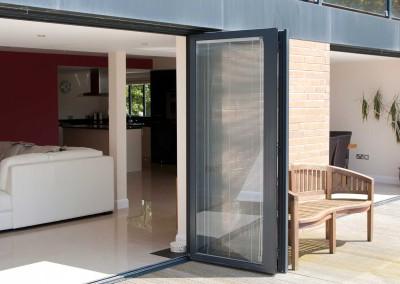 Opened Aluminium Bi-Fold Doors