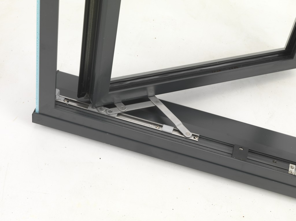 Aluminium window hinge and mechanism
