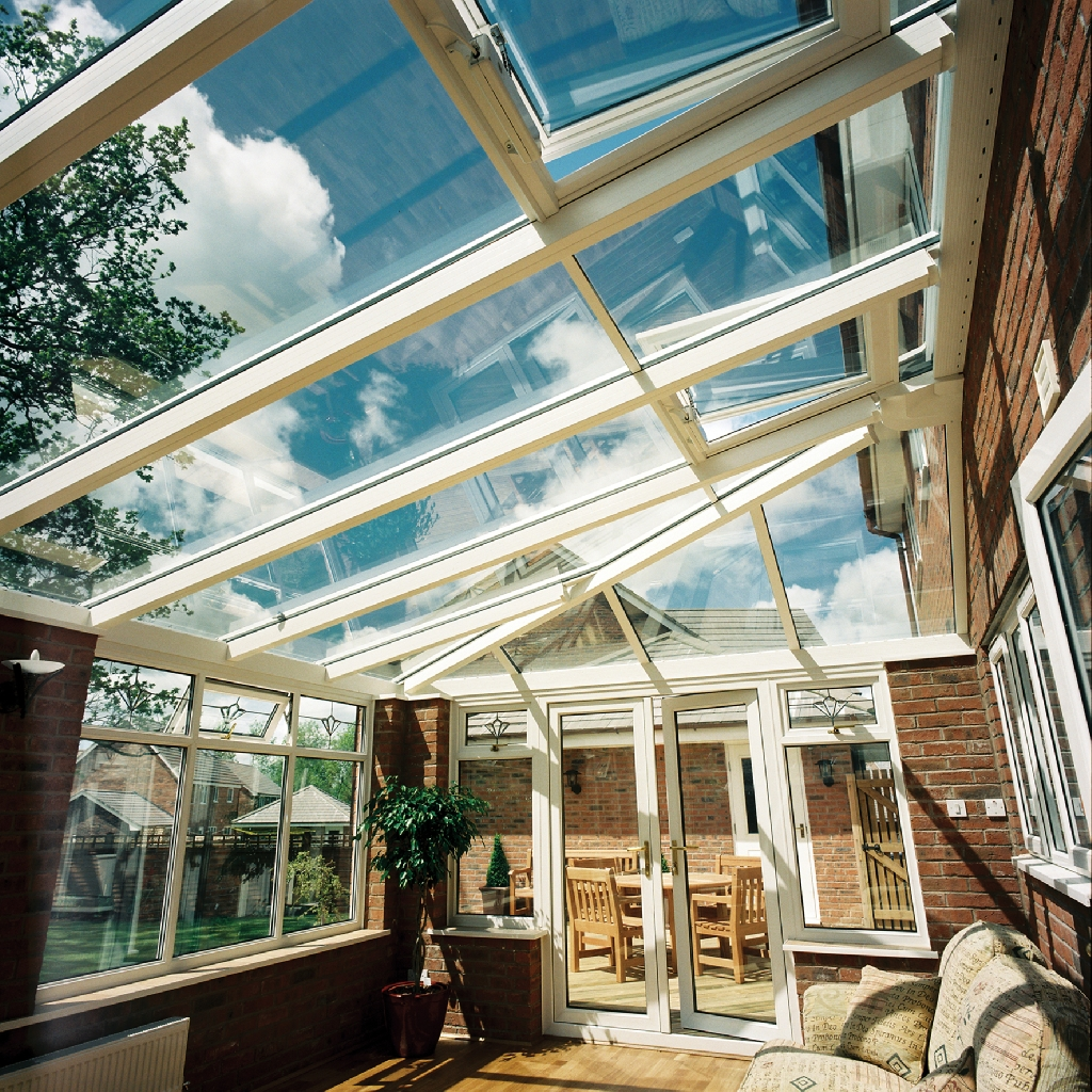 Internal shot of Lean-to Conservatory roof.