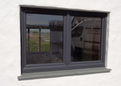 Upvc window anthracite grey redruth