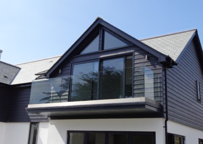 Visoglide plus aluminium sliding door anthracite grey mullion cornwall
