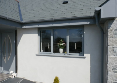 Slate grey alitherm window truro