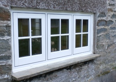 Casement window with cental dummy sash in falmouth, a-rated double glazing