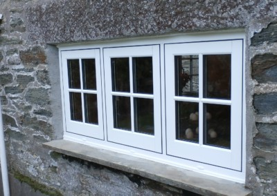 Casement window with central dummy sash supplied and fitted in falmouth