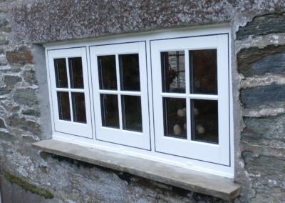 Casement window in white upvc fitted in falmouth