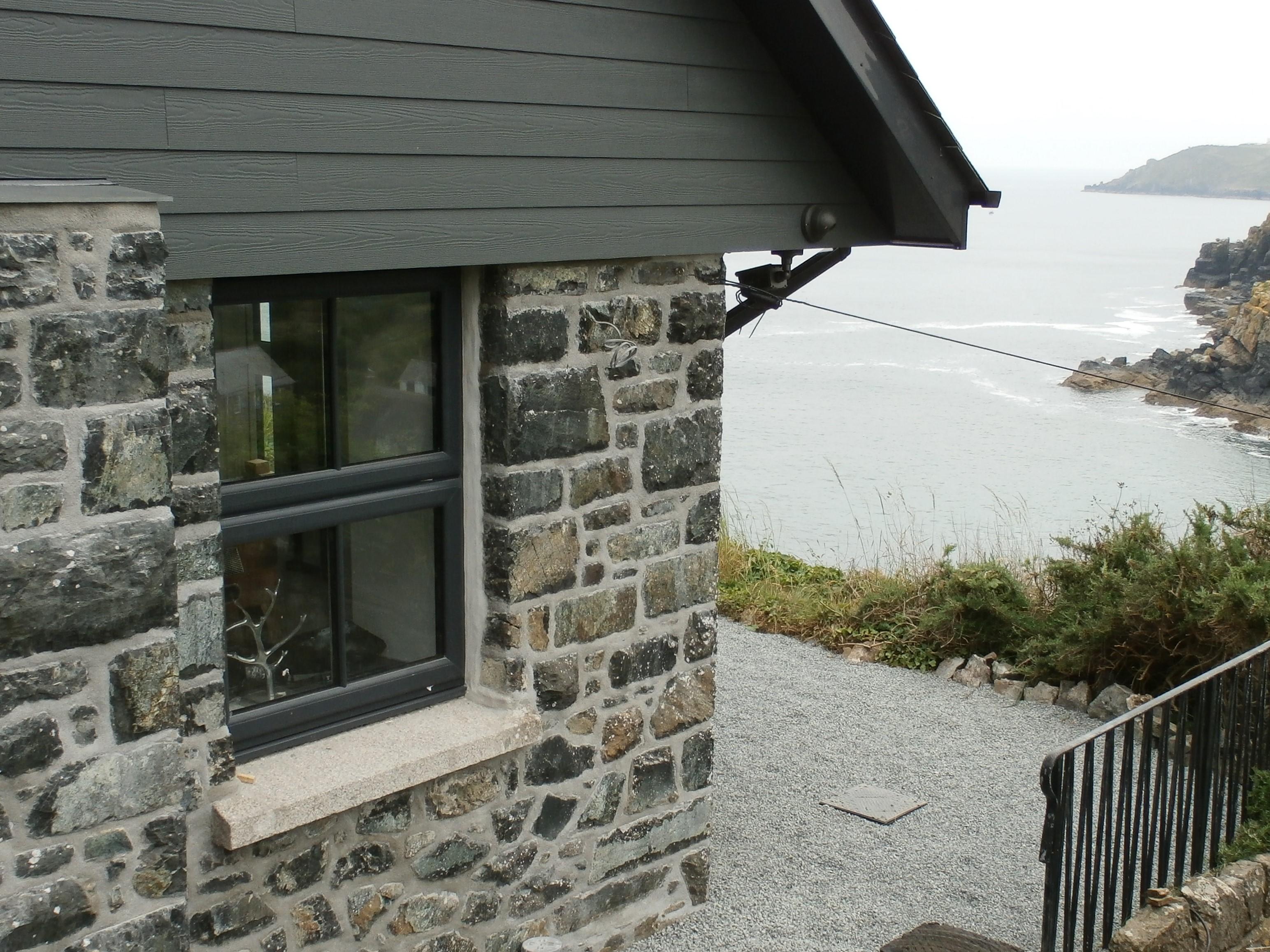 Grey upvc window